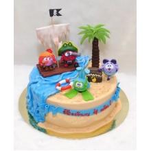 Торт смешарики (3712)