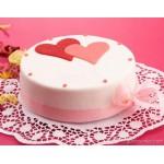 РМ268 Торт белый с двумя сердцами