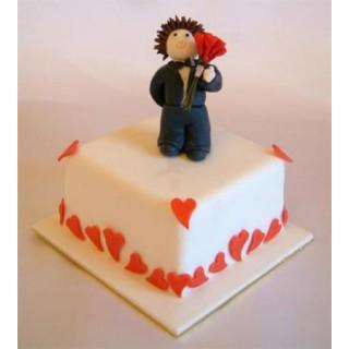 РМ 271 Торт парень с цветами