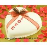 РМ 262 Торт белое сердце с бантом